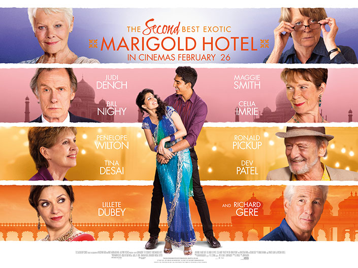 Second Best Marigold Hotel Promotional Poster