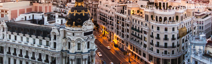 Gran Via, Madrid, Spain.