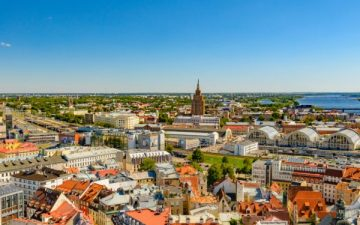 Riga, Latvia cityscape