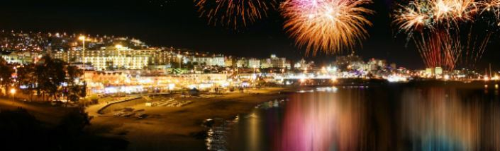 Fireworks over the carnival