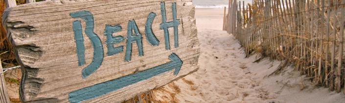 Beaches sign