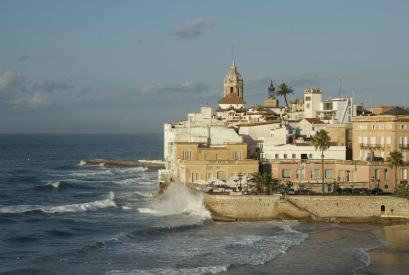 Catalonian coastal town, Sitges, Barcelona, Spain