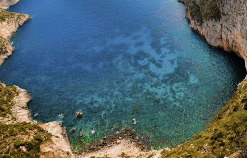 View from the cliffs at Kambi, Zante