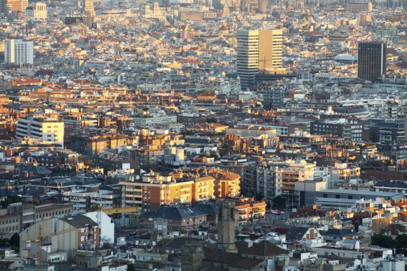 View of Barcelona from Sarria Pedrables