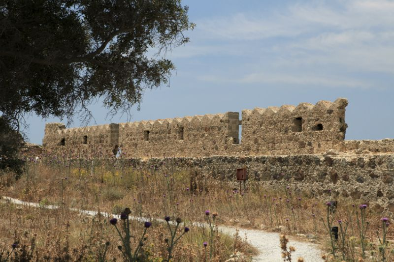 Ruins of Antimachia castle in the Kos countryside, Greece