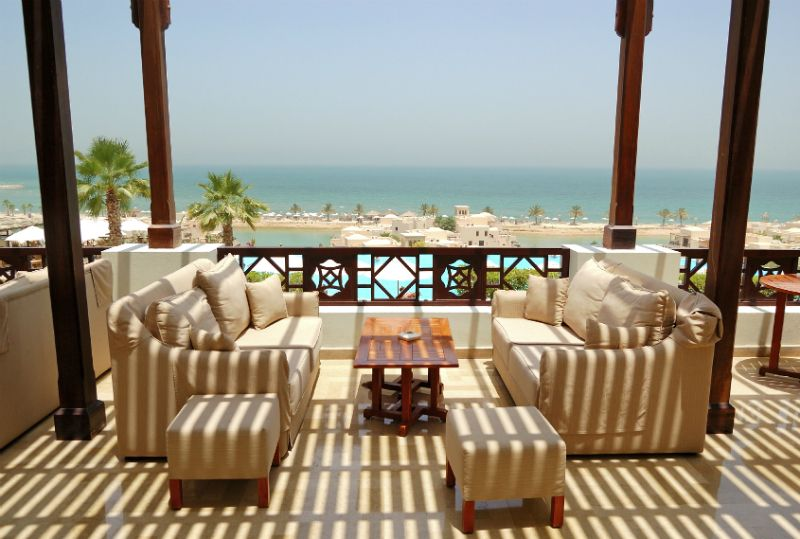 Balcony with sea view, Dubai