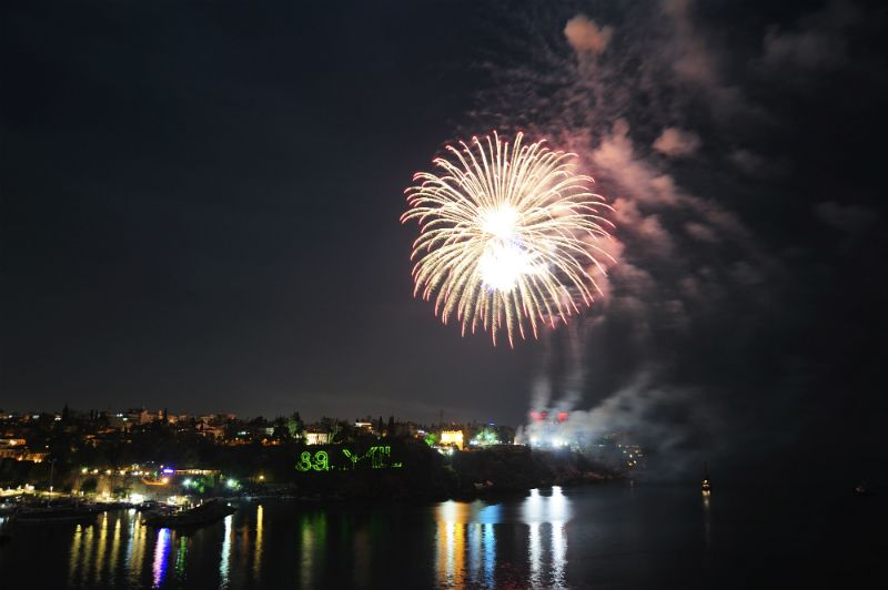 Fireworks over Antalya, Turkey