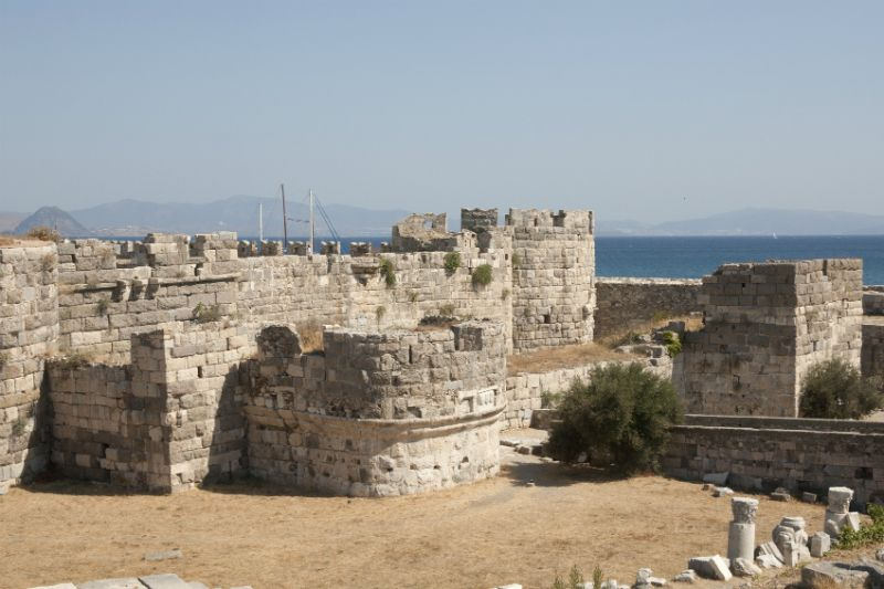 18th century Kos Castle against the sea, Kos Town, Greece