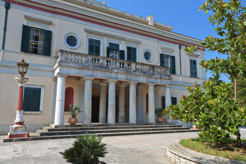 Mon Repo palace at Corfu island