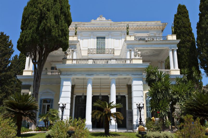 Achilleion palace at Corfu island Greece