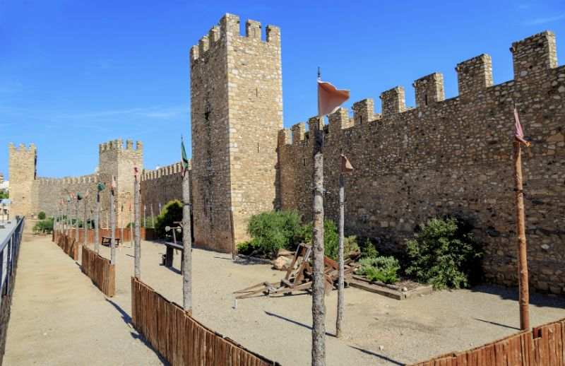 The walls and ruins of Montblanc walled town, Barcelona, Spain