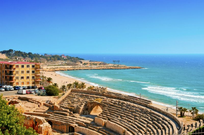 Roman ruins at an Amphitheatre, Tarragona, Spain