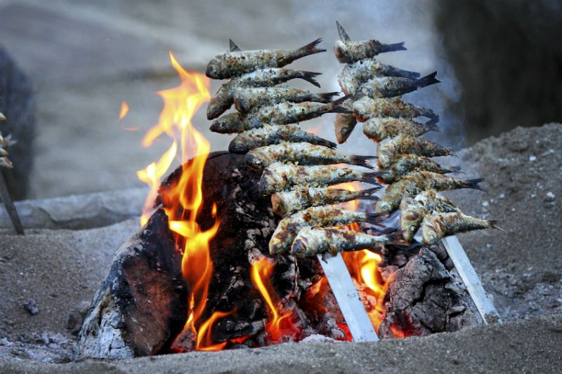 Sardines cooking on the beach, Fuengirola