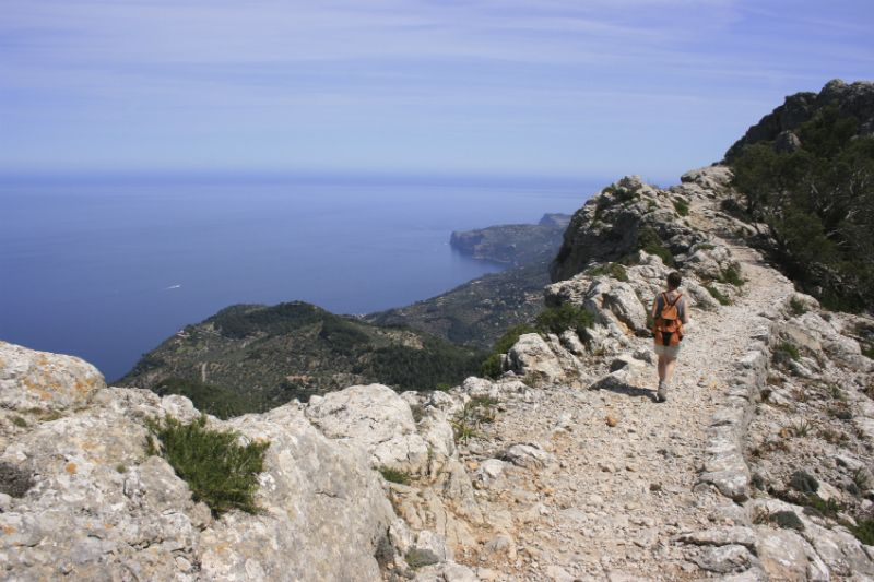 Hiking in the Sierra de Tramuntana, Majorca