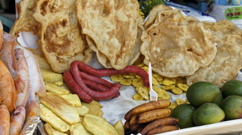 Food on sale at market, Dominican Republic
