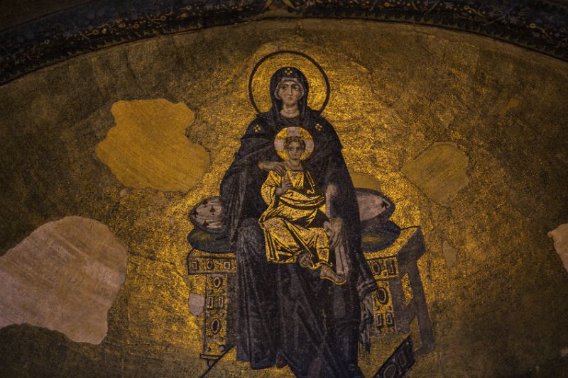 Virgin and The Child Mosaic