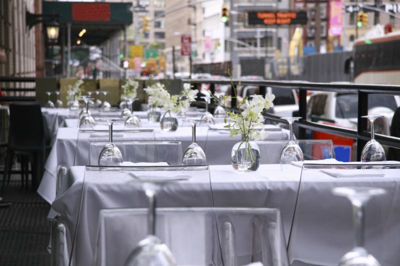 Curbside Dining, Manhattan, New York