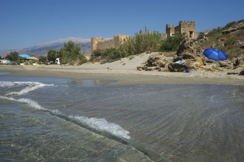Ruins of the castle at Frangokastello beach, Crete, Greece