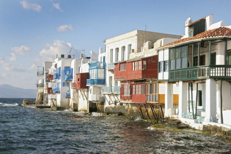 colourful Little Venice Houses, Mykonos, Greece