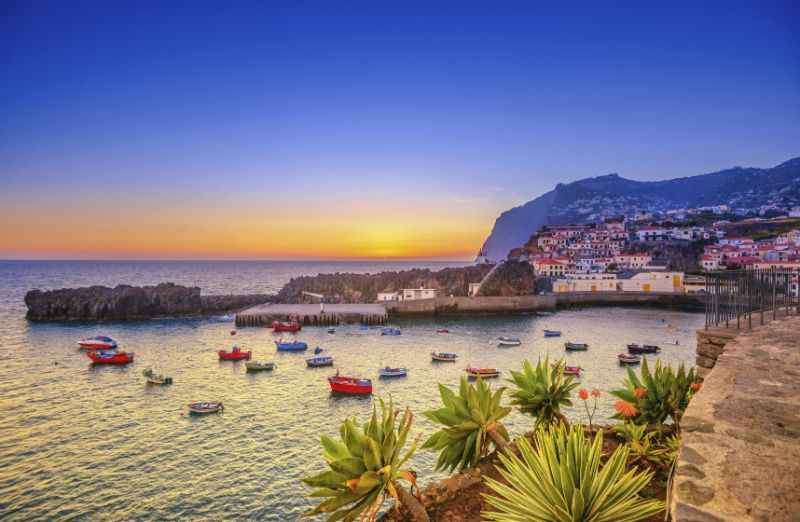 Sunset at Camara de Lobos, Madeira, Portugal