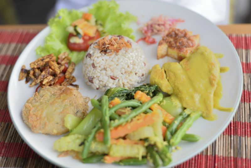 A typical Indonesian Meal in Ubud, Bali