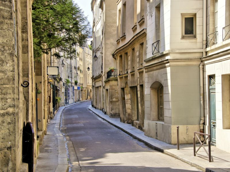 Street in the Latin Quarter of Paris France