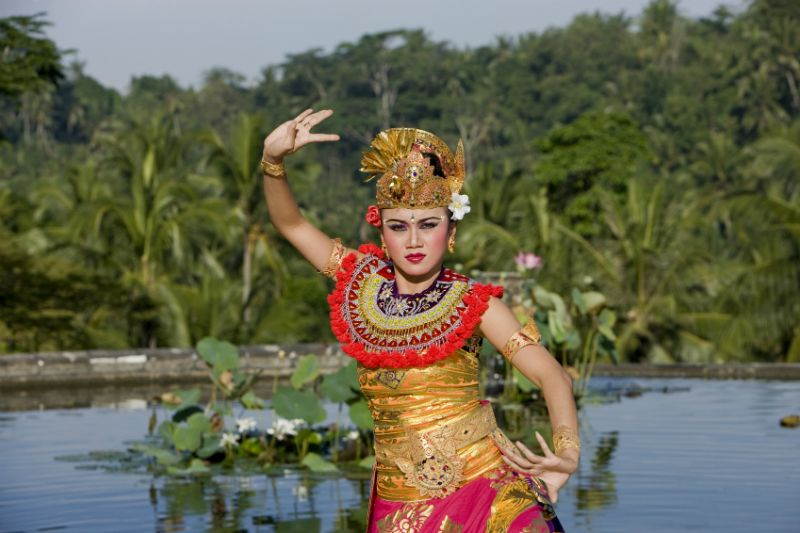 A typical Balinese dance performance, Bali, Indonesia