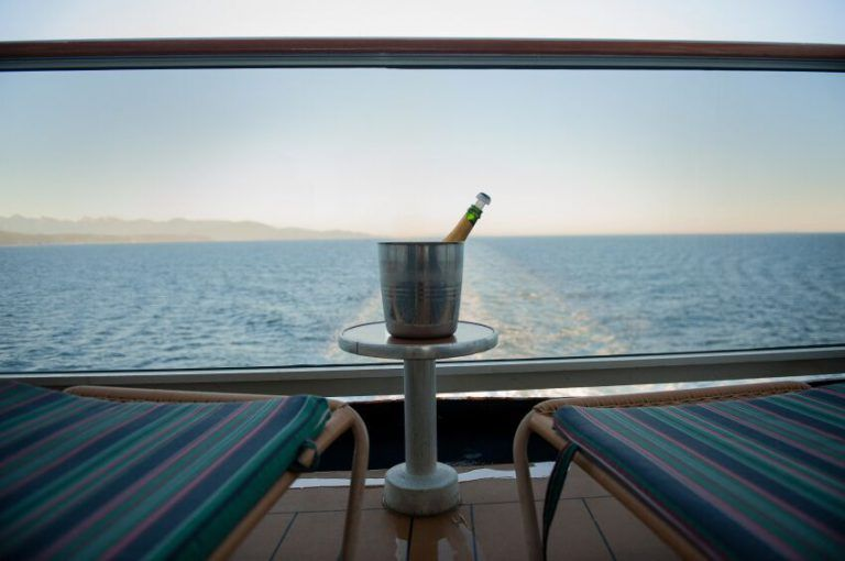 Champagne on a cruise ship