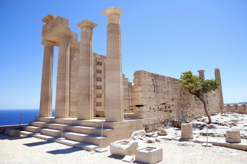 Ancient Ruins of Lindos Rhodes
