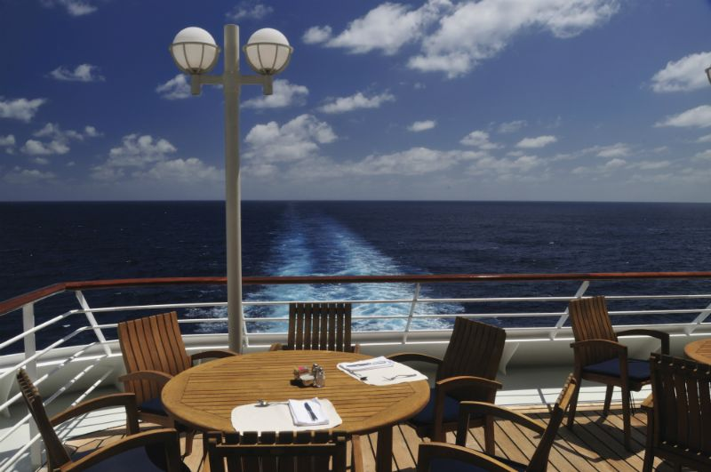 A quiet spot on a Caribbean cruise.