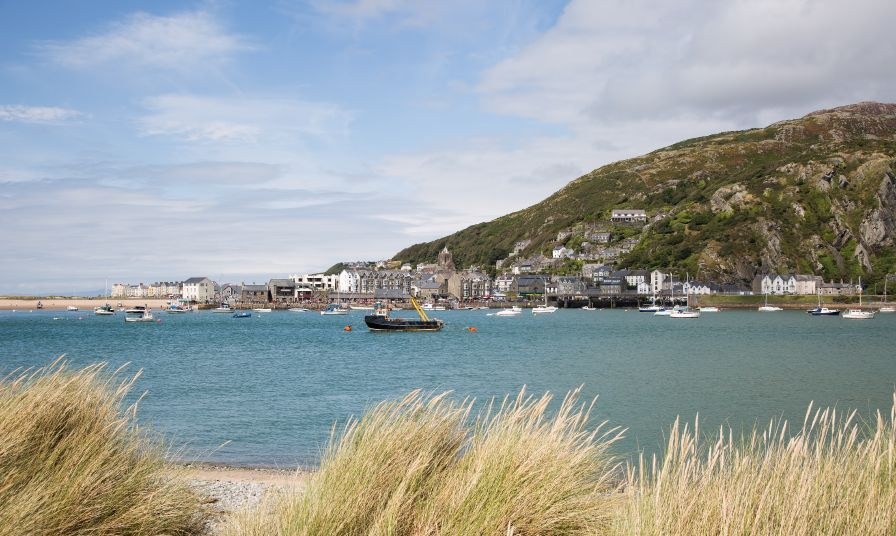 Barmouth Harbour and Town Mawddach Trail Wales