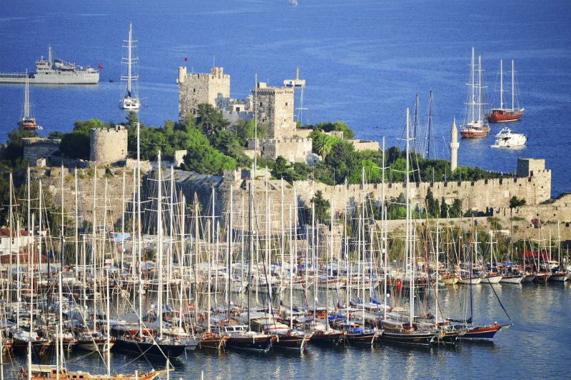 Bodrum Castle and harbour, Turkey