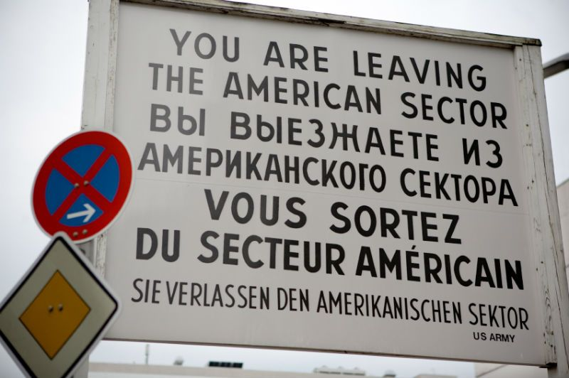 Checkpoint Charlie SIgn, Berlin, Germany