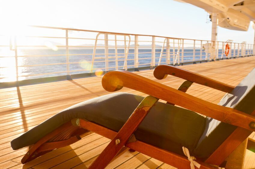Deck Chair on Cruise Ship