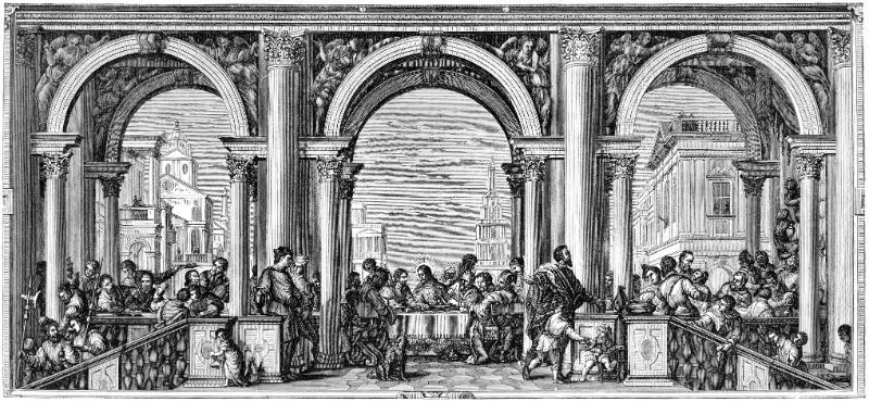 Illustration of Feast in The House of Levi by Paolo Veronese