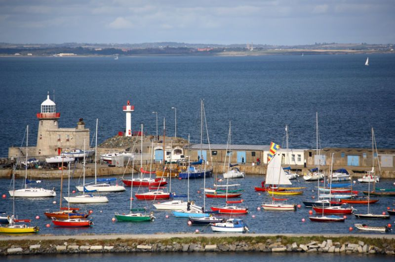 Colourful Boats at Howarth Harbour, Ireland