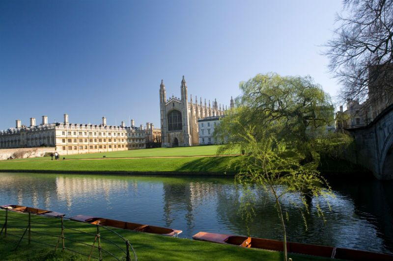 Kings College River, Lawn and Grounds, Cambridge, United Kingdom