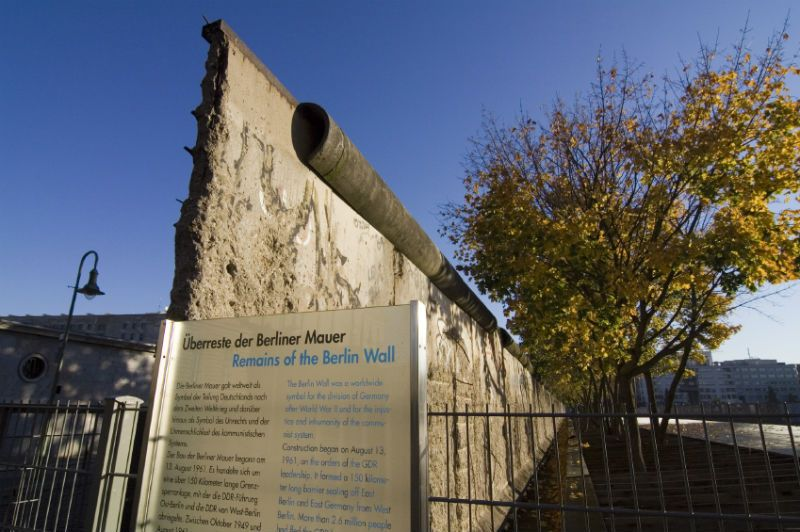 Gated remains of the Berlin Wall in Germany