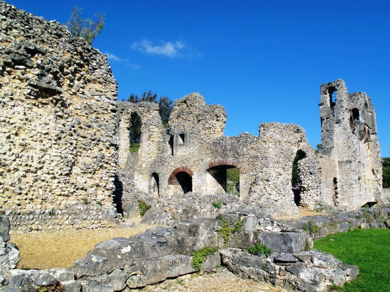 Stone Ruins of Wolvesey Castle, Winchester, United Kingdom