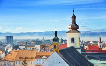 Sibiu skyline in Romania