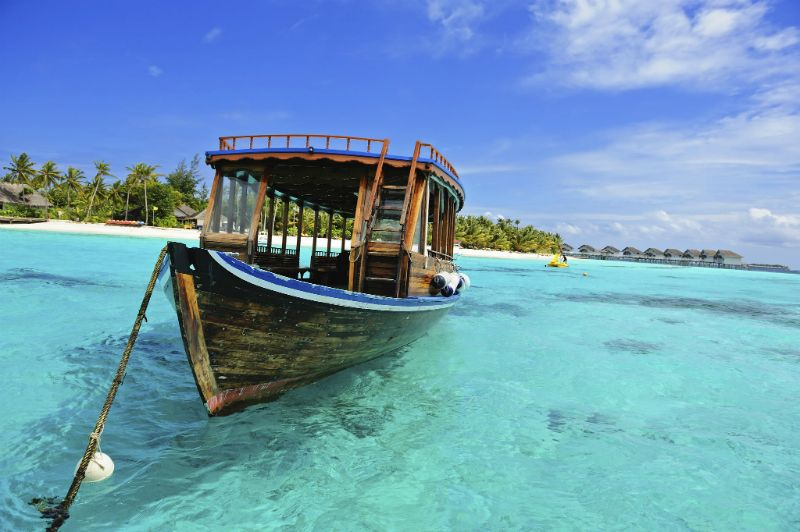 Traditional Dhoni Boat in the Maldives