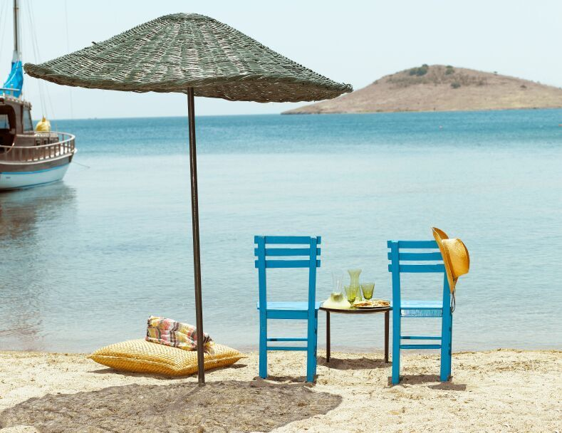 Wooden Chairs on beach Bodrum