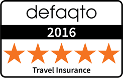 5 Star Defaqto rated travel insurance