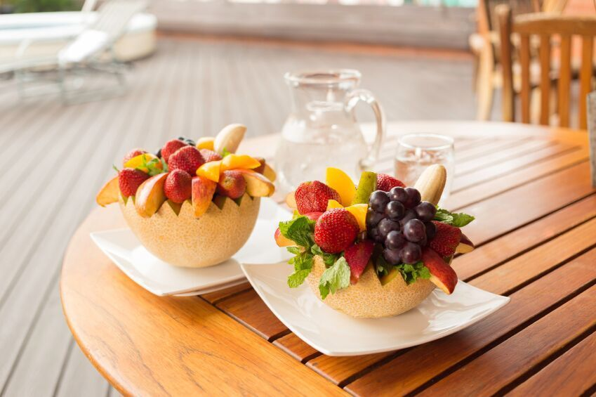fruit meal on cruise ship
