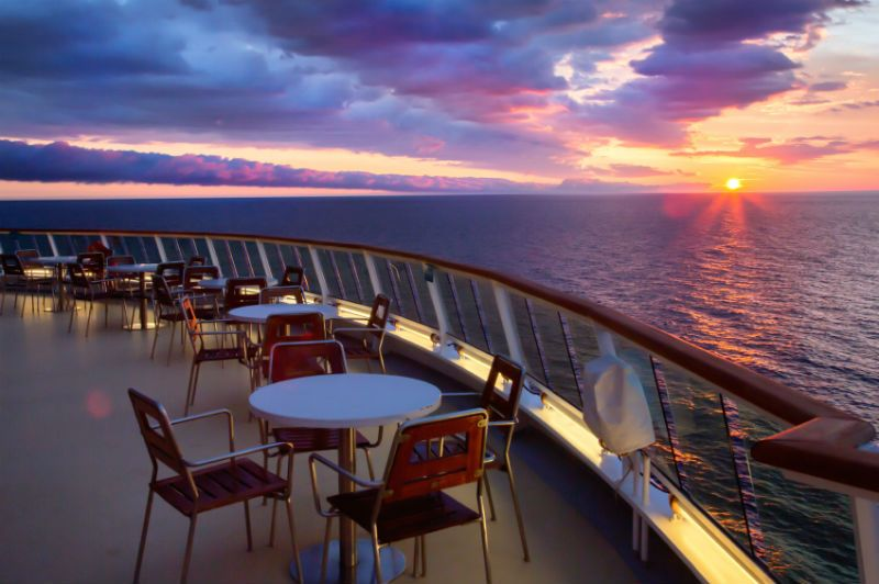 Evenings can be a bit cooler on cruise ships.