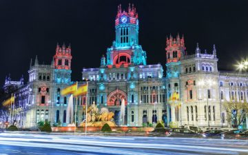 Cibeles square, Madrid, at Christmas