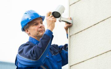 Workman fitting CCTV