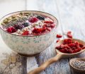 porridge with fruit and seeds