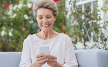 Mature lady texting