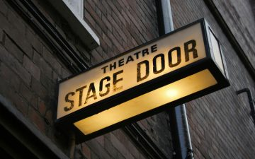London theatre stage door